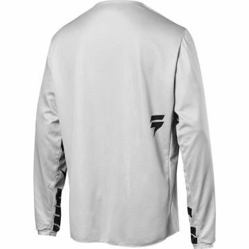 Motocross Jersey Shift White Label Salar, hellgrau Größe S Rückansicht