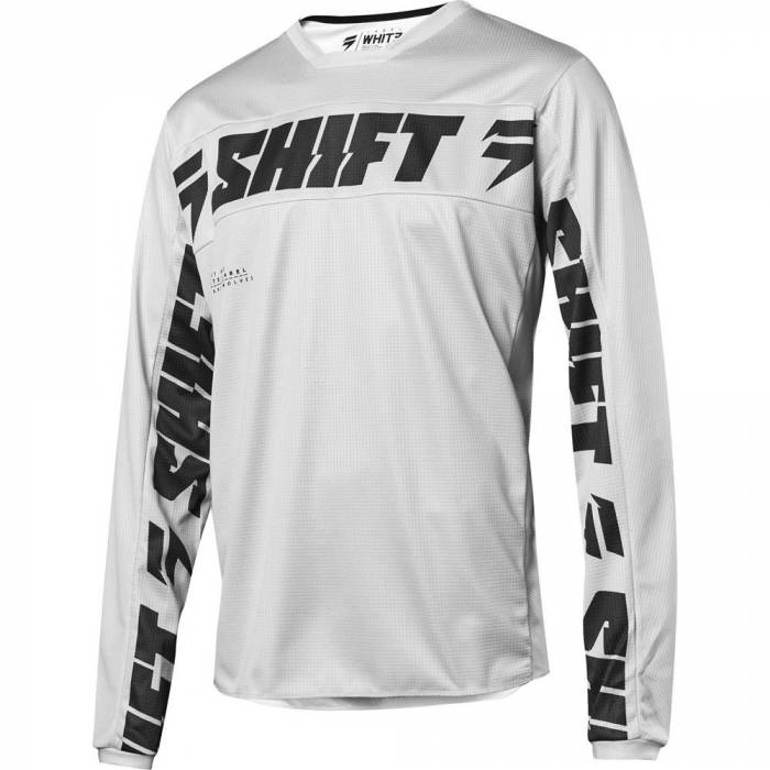 Motocross Jersey Shift White Label Salar, hellgrau Größe S