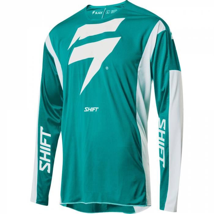 Motocross Jersey Shift Black Label Race 1, mintgrün/weiss Größe M