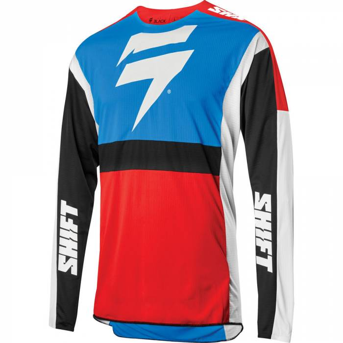 Motocross Jersey Shift Black Label Race blau/rot Größe M