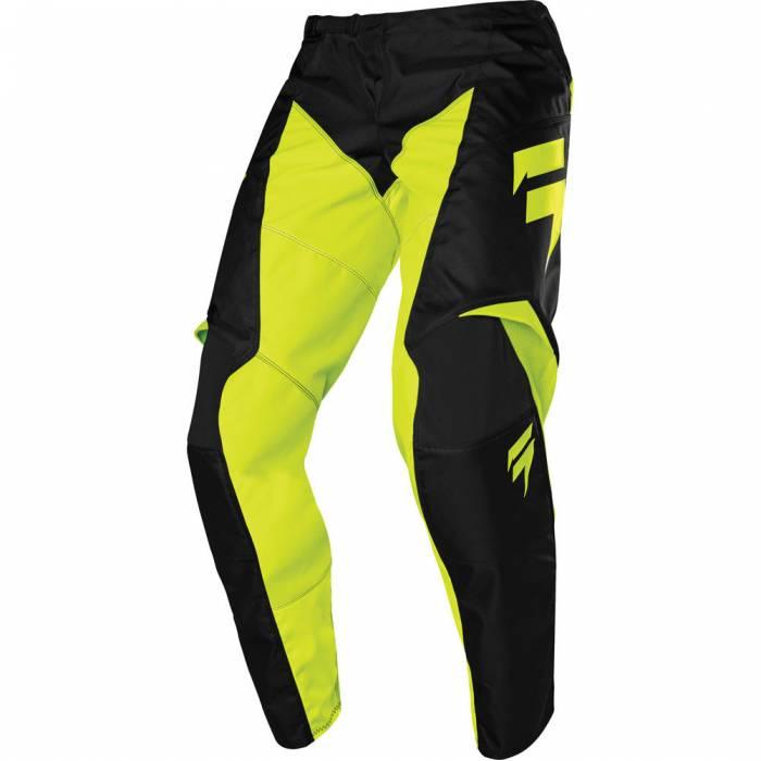 Motocross Hose Shift White Label Race 1, schwarz/neongelb Größe 32