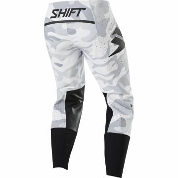 Motocross Hose Shift Blue Label Snow weiss/camo Größe 32 Rückansicht