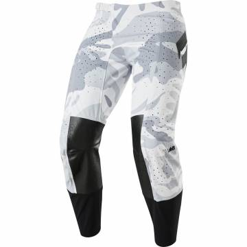 Shift Blue Label Snow Camo Motocross Hose 2020, weiss camo/rot