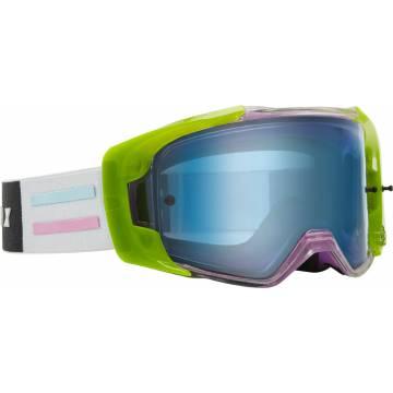 Motocross Brille Fox VUE Vlar, bunt Seitenansicht