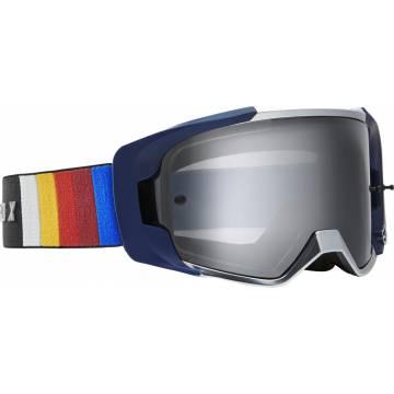 Motocross Brille Fox VUE Vlar, blau Seitenansicht