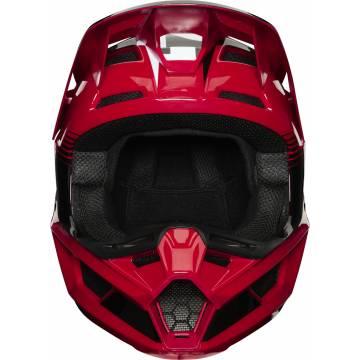 Motocross Helm Fox V2 Hayl , rot/schwarz für Kinder mit offenen Visier