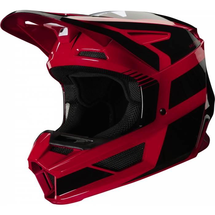 Motocross Helm Fox V2 Hayl , rot/schwarz für Kinder