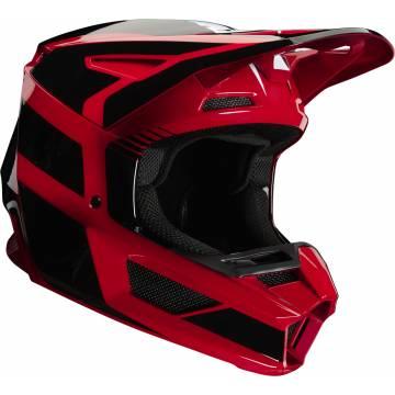 Motocross Helm Fox V2 Hayl , rot/schwarz für Kinder Seitenansicht
