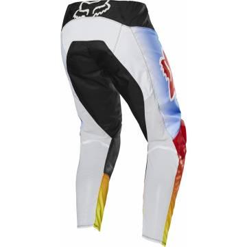 Motocross Hose Fox 180 Fyce, schwarz/blau/rot Größe 28 Rückansicht
