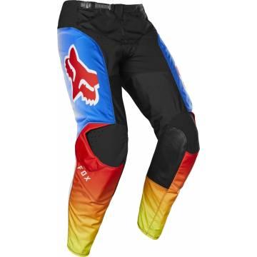 Motocross Hose Fox 180 Fyce, schwarz/blau/rot Größe 28 Seitenansicht