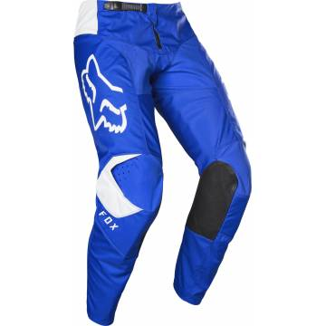 Motocross Hose Fox 180 Prix, blau/weiss Seitenansicht