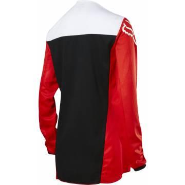 Motocross Jersey Fox WMNS 180 Fyce , rot/weiss/schwarz Rückansicht