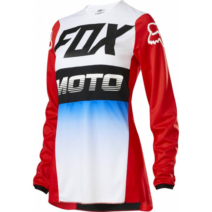Motocross Jersey Fox WMNS 180 Fyce , rot/weiss/schwarz