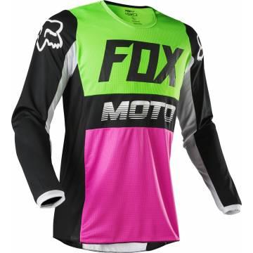 Motocross Jersey Fox Youth 180 Fyce, bunt Motocross Jugend Vorderansicht