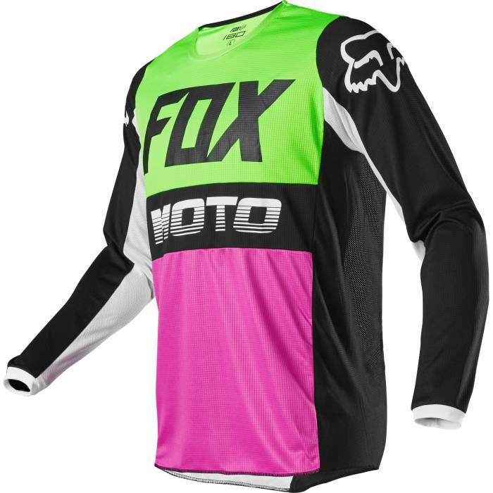 Motocross Jersey Fox Youth 180 Fyce, bunt Motocross Jugend