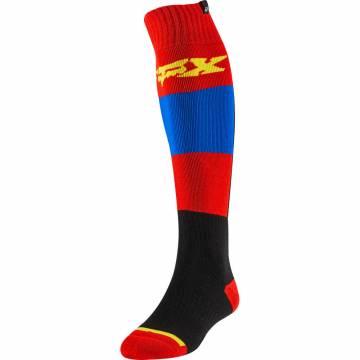 Motocross Socken Fox FRI Thin Linc, rot,schwarz/blau