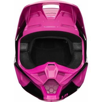 Motocross Helm Fox V1 Prix ,  pink/schwarz Vorderansicht