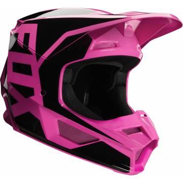 Motocross Helm Fox V1 Prix ,  pink/schwarz