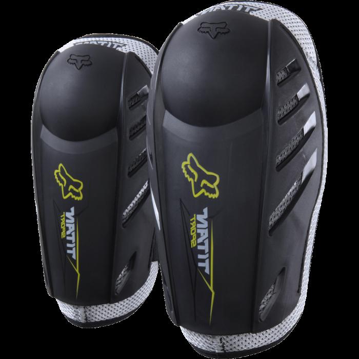 Motocross Zubehör: Fox Titan Sport Ellbogenschoner, schwarz für Kinder 8-12 Jahre Einheitsgröße
