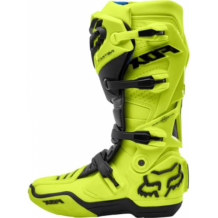 Motocross Stiefel Fox Instinct, neongelb/schwarz Größe 44