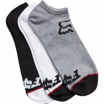 Fox No Show Socken, schwarz, weiss und grau Größe S-M