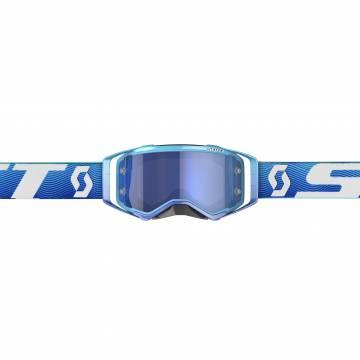 Scott Prospect Motocross Brille, blau/weiss Vorderansicht