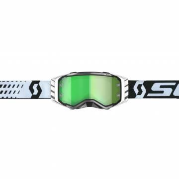 Motocross Brille Scott Prospect weiss/schwarz Vorderansicht