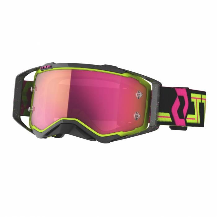 Scott Prospect Motocross Brille, schwarz/gelb/pink