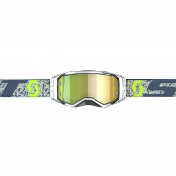 Scott Prospect Motocross Brille, grau/gelb Vorderansicht