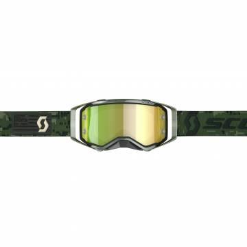 Scott Prospect Motocross Brille, dunkelgrün Vorderansicht