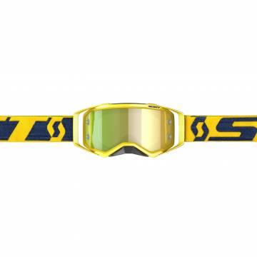 Scott Prospect Motocross Brille, gelb/dunkelblau Vorderansicht