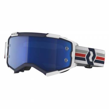 SCOTT Fury Motocross Brille, blau/weiss