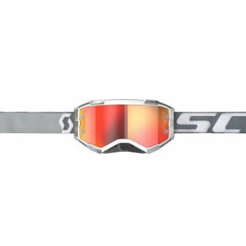 SCOTT Fury Motocross Brille, grau/weiss, 272828-1039280 Vorderansicht