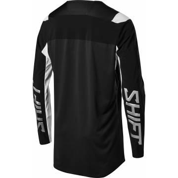 Shift Blue Label Archival LE Motocross Jersey 2020 Rückseite, schwarz/weiss