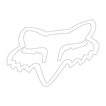 Fox Head Sticker, 03267-008-OS
