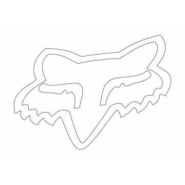 Fox Head Sticker, 03268-008-OS