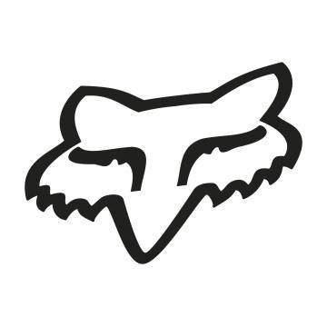 Fox Head Sticker, 03268-001-OS