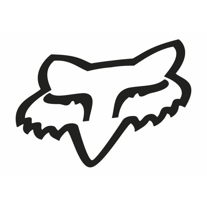 Fox Head Sticker, 03268-001-OS