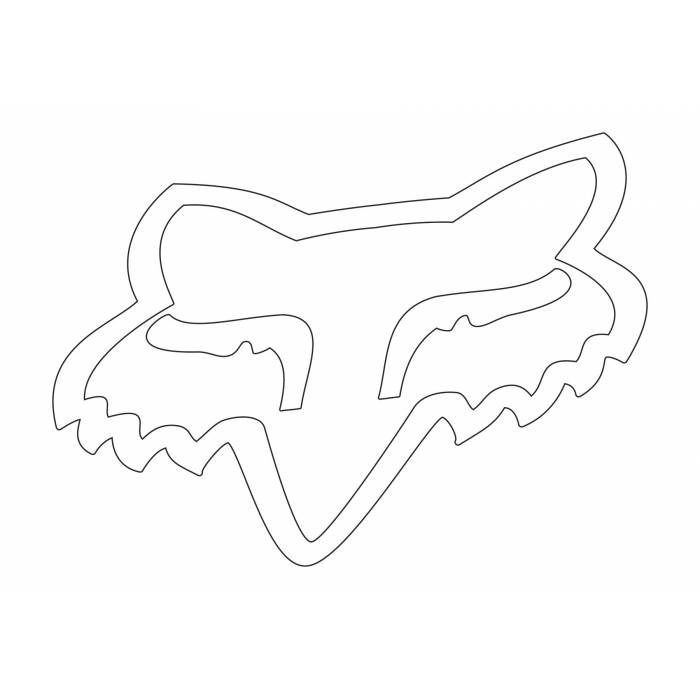 Fox Head Sticker, 03269-008-OS