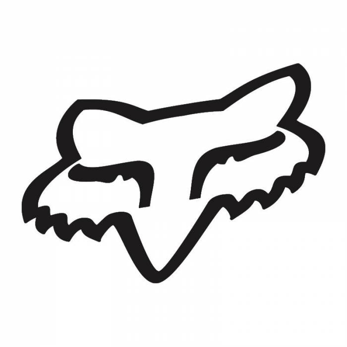 Fox Head Sticker, 14911-001-OS