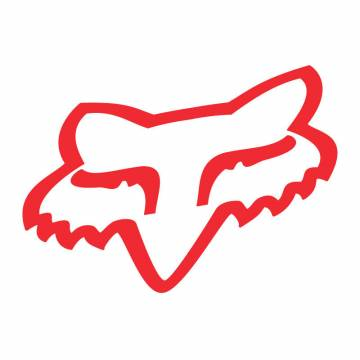 "Fox Head Sticker 2"", rot"