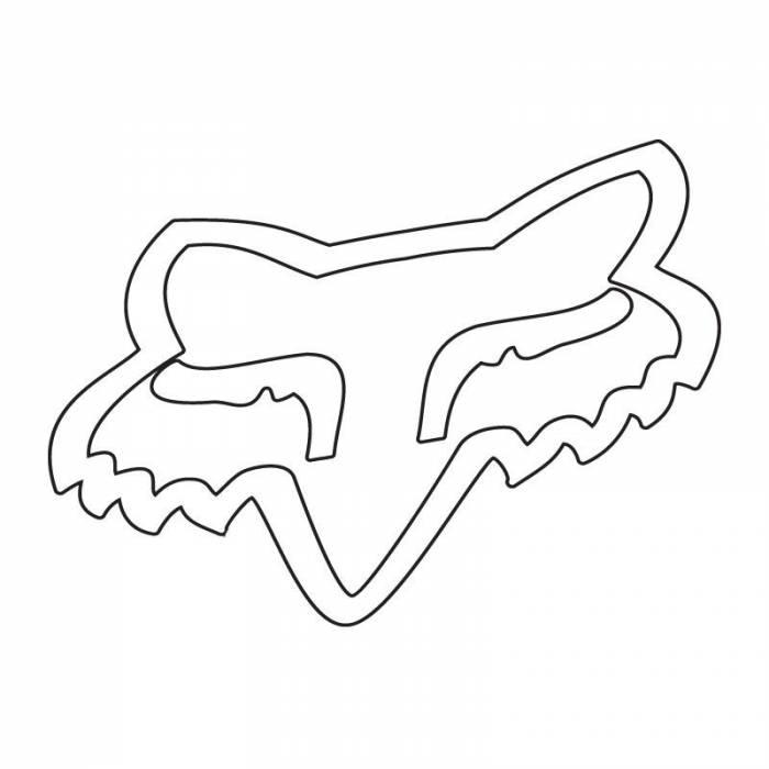 Fox Head Sticker, 14934-008-OS