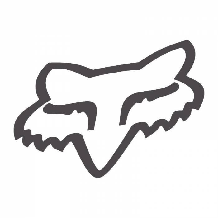 Fox Head Sticker, 14934-136-OS