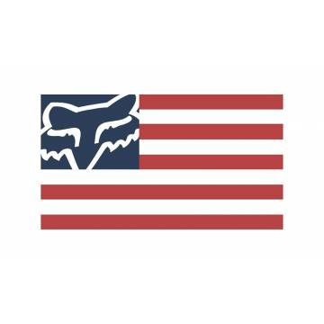 Fox Flag Sticker, 23386-574-OS
