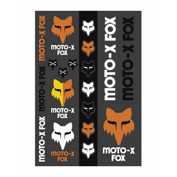 Fox Heritage Track Pack Stickerbogen, 23389-135-OS