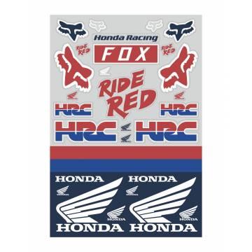 Fox Honda Track Pack Stickerbogen, bunt