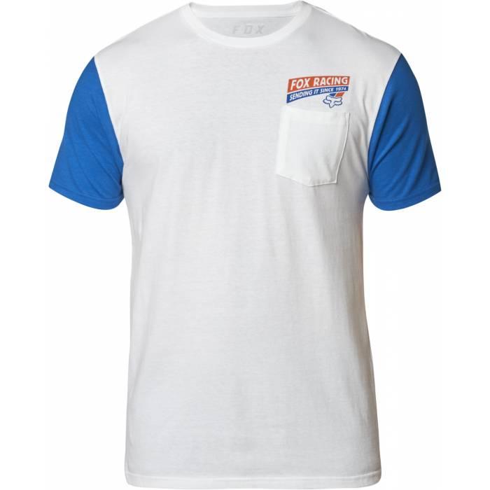 Fox Sending It Premium T-Shirt, weiss-blau, 24910-059