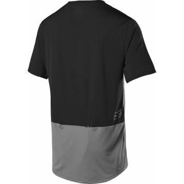 FOX MTB Jersey Flexair Zip | grau-schwarz | 25121-052 Ansicht Rückseite