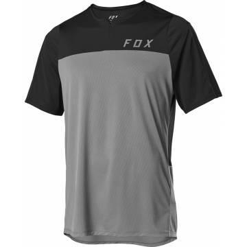 FOX MTB Jersey Flexair Zip | grau-schwarz | 25121-052