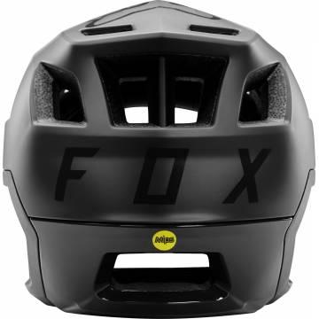 FOX Dropframe Pro Mountainbike Helm | schwarz matt | 26800-001 Rückansicht